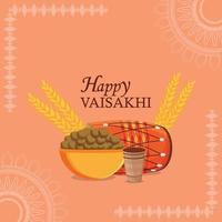Fête du vaisakhi festival sikh indien vecteur