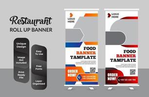 roll up banner design template moderne x-banner set vecteur