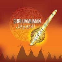 fond de célébration hanuman jayanti vecteur