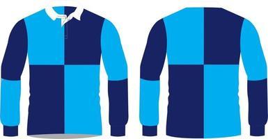chemises de rugby design personnalisé tricotées vecteur