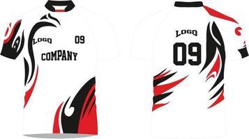 chemises sublimées rugby vecteur