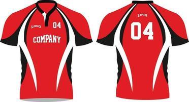 maquettes de chemises sublimées de rugby vecteur