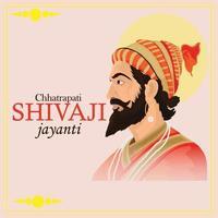 main dessiner illustration de la célébration de shivaji jayanti