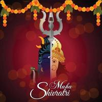Salutation de célébration maha shivratri