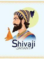 illustration créative de la célébration de shivaji jayanti