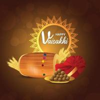 célébration de l'illustration du festival vaisakhi sikh heureux vecteur
