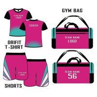 maillot et short de volleyball sublimés vecteur