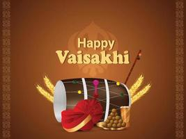 joyeuse fête du festival vaisakhi punjabi
