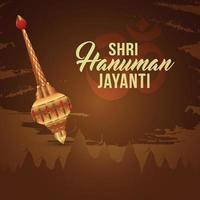 carte de voeux hanuman jayanti vecteur