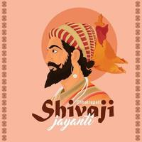 illustration vectorielle créative de shivaji jayanti