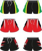 maquettes de shorts de football sublimées vecteur