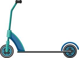scooter de coup de pied bleu en style cartoon isolé vecteur