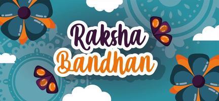 conception d'affiche joyeux raksha bandhan