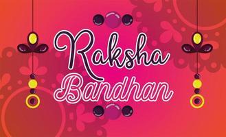conception d'affiche joyeux raksha bandhan vecteur