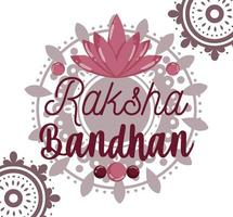 conception de carte de voeux joyeux raksha bandhan vecteur