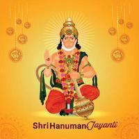 illustration créative du seigneur hanuman pour l'heureux hanuman jayanti vecteur