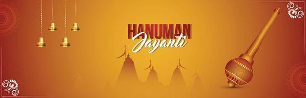bannière de célébration de hanuman jayanti vecteur