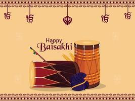 fond de célébration de vaisakhi heureux vecteur
