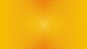fond de pop art. fond pointillé rétro. illustration vectorielle. pop art jaune demi-teinte