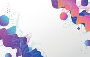 fond d'élément de forme colorée vague abstraite vecteur