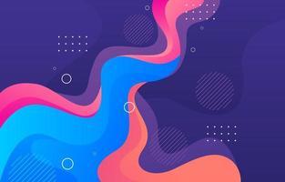 fond fluide abstrait coloré vecteur
