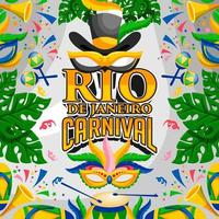 conception de festival de carnaval de rio brésil vecteur