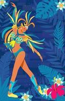 Danseurs de carnaval de Rio de Janeiro vecteur