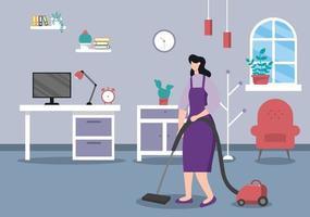concept de service de nettoyage vecteur