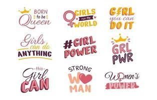 citations de soutien pour la journée des femmes vecteur
