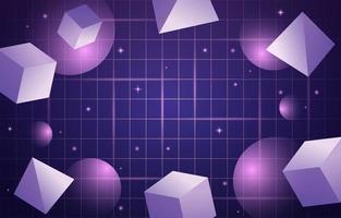 style de fond rétro futurisme avec forme géométrique abstraite vecteur