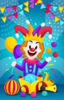 cadeau spécial avec surprise de clown vecteur