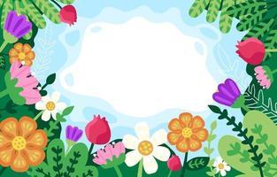 fond de printemps floral avec belle fleur vecteur