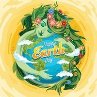 concept de jour de la terre heureux vecteur