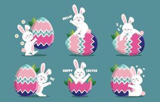 personnage de lapin de Pâques vecteur