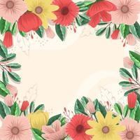 fond floral de printemps