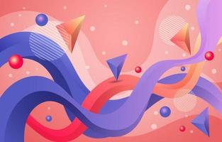 fond coloré abstrait de flux et de forme vecteur