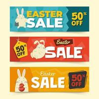 outil de marketing de bannière de Pâques vecteur