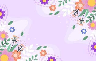 fond de fleur de printemps coloré vecteur