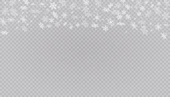 la neige blanche vole fond. flocons de neige de Noël. illustration de fond hiver blizzard.
