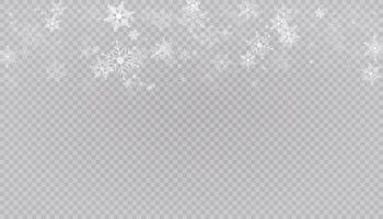 neige blanche vole fond. flocons de neige de Noël. illustration de fond hiver blizzard.