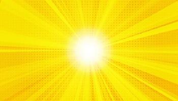 fond de rayons sanny jaune. particules de poussière magiques étincelantes. illustration vectorielle.