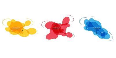 bannières géométriques dégradées avec des formes liquides fluides. conception fluide dynamique pour logo, flyers ou presentstion. fond de vecteur abstrait