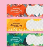 modèle de bannière de la journée des femmes florales vecteur