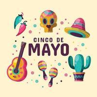 icône colorée de cinco de mayo