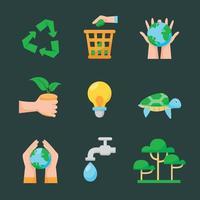 icône de sensibilisation pour le jour de la terre mère vecteur