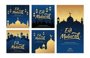 joyeuses salutations eid mubarak vecteur