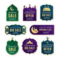 étiquette de vente ramadan kareem vecteur