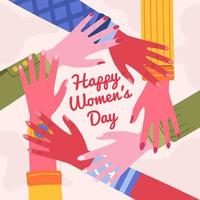 journée internationale de la femme 8 mars vecteur