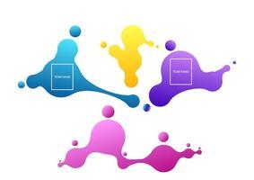 concept de paris en ligne. vecteur de paris sportifs en ligne basnner. résultats des matchs d'arène. illustration vectorielle de papier peint. formes géométriques abstraites. bannières de dégradé liquide isolés sur blanc.