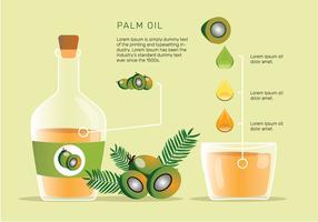 Paquet de vecteur de fruits huile de palme